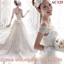 Áo cưới cao cấp đuôi dài 125