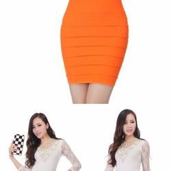 Váy bút chì xếp ly thời trang siêu HOT giá rẻ, chất liệu tốt Freesize