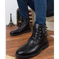Giày nam boot combat 2 khóa