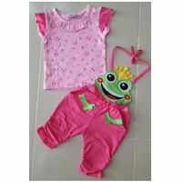 Bộ áo yếm chú ếch hồng HC053