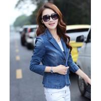 Áo Khoác Jeans Giả Vest WAK274 Xanh