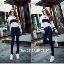 Quần jean xanh lưng cao 5 nút xinh xắn - Q174