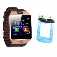 Đồng hồ diện thoại lắp sim,thẻ nhớ DZ09 +túi chống nước,bảo vệ xanh