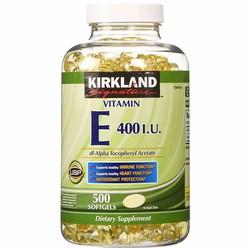 Viên uống Đẹp da chống lão hóa Vitamin E 500 viên Kirkland của Mỹ