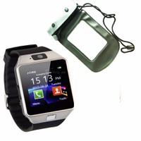 Đồng hồ diện thoại lắp sim,thẻ nhớ DZ09 đen+túi chống nước,bảo vệ xám