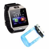 Đồng hồ diện thoại lắp sim,thẻ nhớ DZ09 đen+túi chống nước,bảo vệ xanh