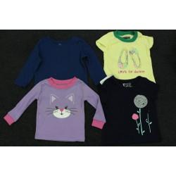 Set 4 áo thun xuất khẩu xịn cho bé gái