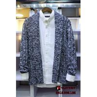 Áo len cardigan thời trang cao cấp TUTTAT 96013-25 xám trắng