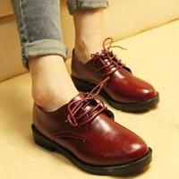 Giày bốt oxford nữ NU 565