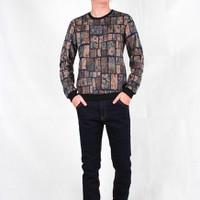 Hằng Jeans - Áo thun nỉ họa tiết vằn ô vuông MM00001-02