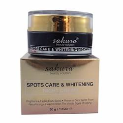 Kem Dưỡng Trắng Da Ban Đêm Sakura Spots Care Whitening Night Cream