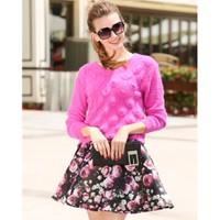 Hàng nhập cao cấp - Set áo len phối váy hoa SET46