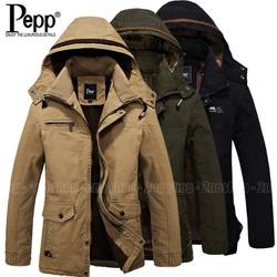 Áo khoác kaki Pepp lót lông mặc ấm, hàng nhập khẩu - Mã số: AK1546