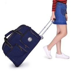 Vali kéo du lịch Kipling màu xanh