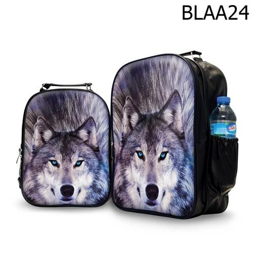 Ba lô nữ in hình sói- blaa24