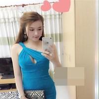 Đầm ôm lệch vai khoét giọt nước xinh đẹp DOV300