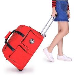 Vali kéo du lịch Kipling màu đỏ