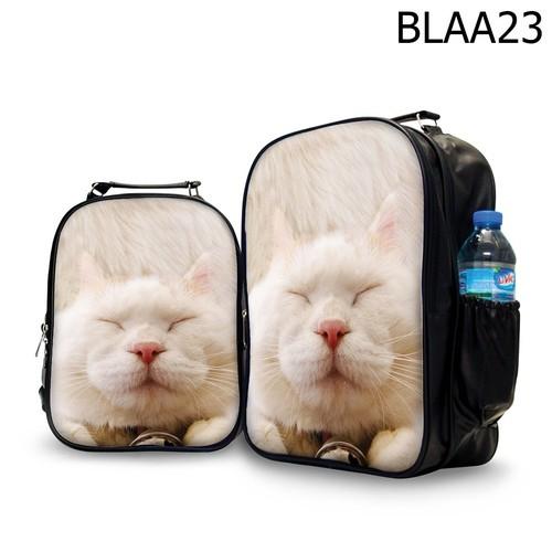 Ba lô nữ in hình mèo shironeko- blaa23