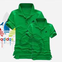 Big Bang - Áo đôi adidas cổ bẻ thun cá sấu 2015 màu xanh lá