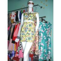 Đầm ôm hoạ tiết hoa vai ngang cực đẹp DH37