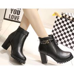Giày boots da PU cao cấp