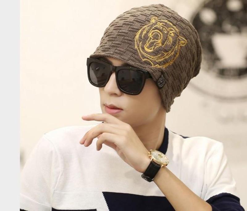 nón mũ len nam thời trang TIGER thiết kế mới mùa thu đông 2