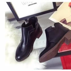 Giày boot nữ cổ ngắn phong cách Âu Mỹ BT212D - Doni86