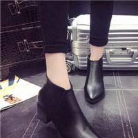 Giày boot nữ cổ ngắn phong cách Âu Mĩ thời trang BT219D - Doni86