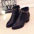 Giày boot nữ cổ ngắn trang trí đinh kim loại  BT217D - Doni86