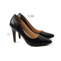 Giày cao gót kim tuyến đen Vatido C04