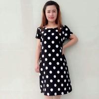 Đầm Bầu Chấm Bi Đen Trắng