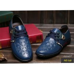 Giày sang nam xanh navy