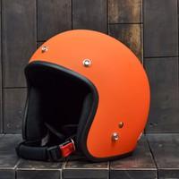 Mũ Bảo Hiểm Dammtrax Matt Orange