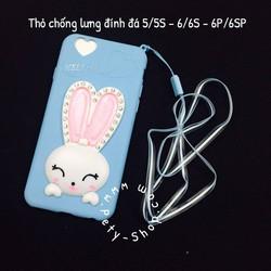 Ốp thỏ chống lưng đá VS2 iPhone 5 5S 6 6S 6Plus 6S Plus kèm dây