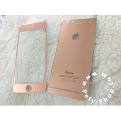 Dán cường lực gương Rose Gold iPhone 5 5S 6 6S 6 Plus 6S Plus