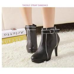 Giày bốt nữ cao gót thanh lịch - Mã số MM90092