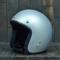 Mũ Bảo Hiểm Dammtrax màu bạc nhám