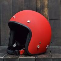 Mũ Bảo Hiểm Dammtrax màu đỏ nhám