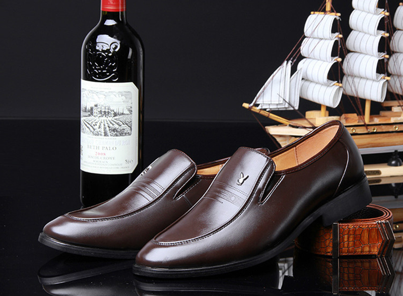 Giày da nam phong cách Ý đính logo - BS 609 15