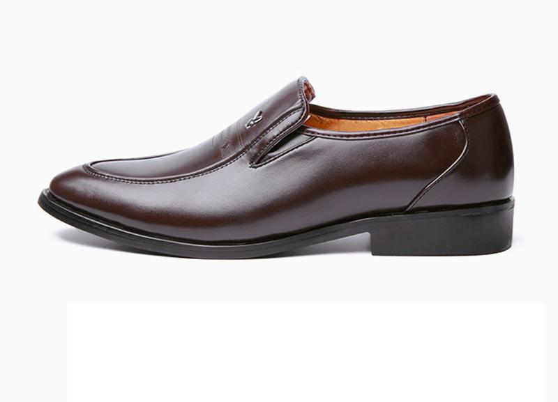 Giày da nam phong cách Ý đính logo - BS 609 18