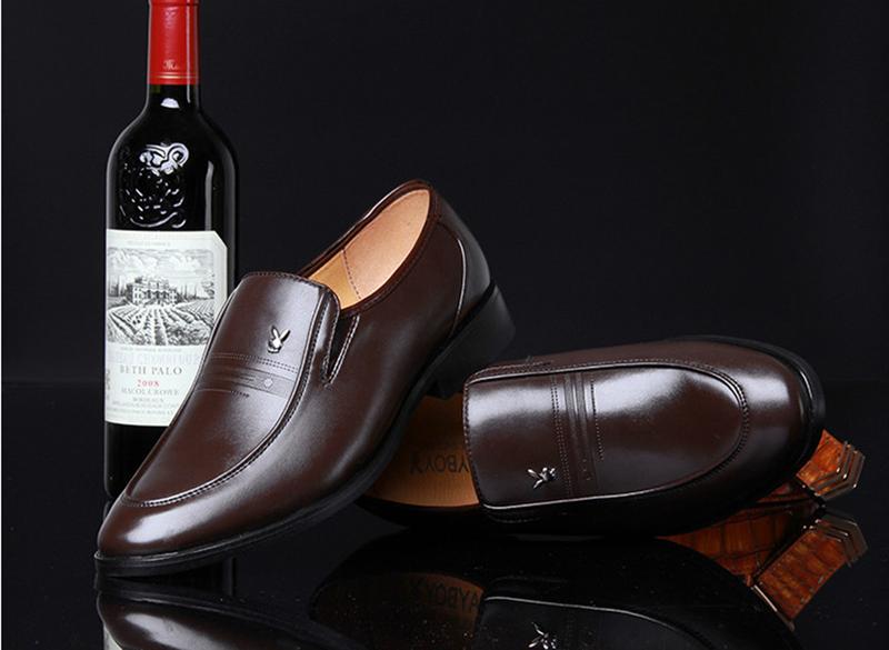 Giày da nam phong cách Ý đính logo - BS 609 14