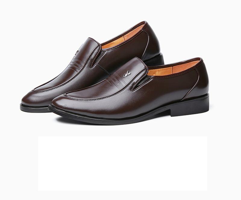 Giày da nam phong cách Ý đính logo - BS 609 19