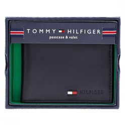 Bóp da Tommy hilfiger men multi card passcase wallet Black