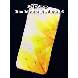 Ốp dẻo hình hoa iPhone 5 5S 6 6S 6 Plus 6S Plus