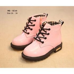 Bốt cho bé gái 3 - 12 tuổi màu hồng cổ cao kiểu dáng Hàn Quốc GC10 - GC10_HONG