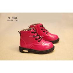 Bốt cho bé gái 3 - 12 tuổi màu hồng cổ cao kiểu dáng Hàn Quốc GC10
