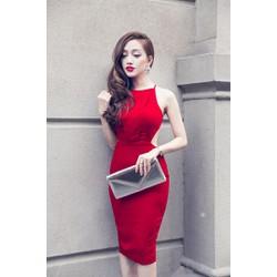 Đầm ôm body đỏ sexy hở lưng D356