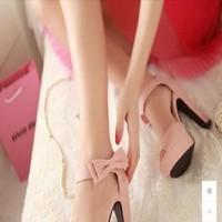 Giày cao gót đính nơ ngang quai hậu xinh đẹp GCN207