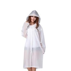 Áo mưa thời trang Hàn Quốc _ Áo mưa kiểu dáng măng tô Màu Trắng
