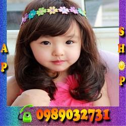 Bộ tóc giả Hàn quốc cho bé xoăn uốn lọn TG1